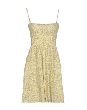 Короткое платье SIYU. Цвет: белый