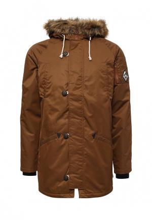 Куртка утепленная Vans. Цвет: коричневый