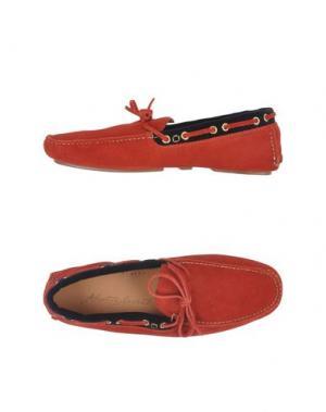 Мокасины ALBERTO MORETTI. Цвет: красный