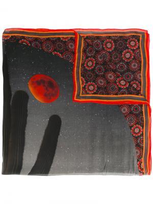 Платок с принтом кактуса Givenchy. Цвет: чёрный