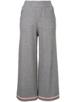 Укороченные широкие брюки Guild Prime. Цвет: серый