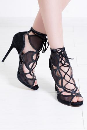 Замшевые туфли Calista Tabitha Simmons. Цвет: черный