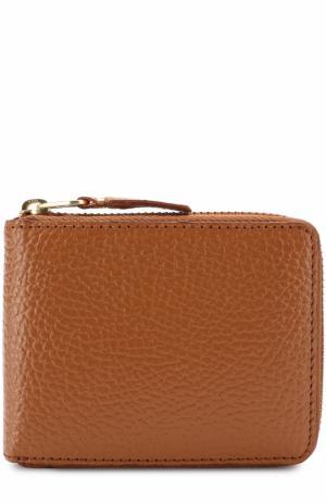Кожаное портмоне на молнии с отделениями для кредитных карт и монет Comme des Garcons. Цвет: оранжевый