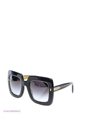 Очки солнцезащитные DOLCE & GABBANA. Цвет: черный, темно-зеленый, темно-серый