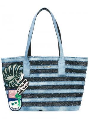 Джинсовая сумка-тоут Wingman Marc Jacobs. Цвет: синий