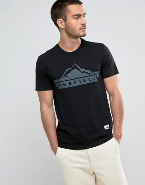 Penfield Черная футболка классического кроя с логотипом. Цвет: черный