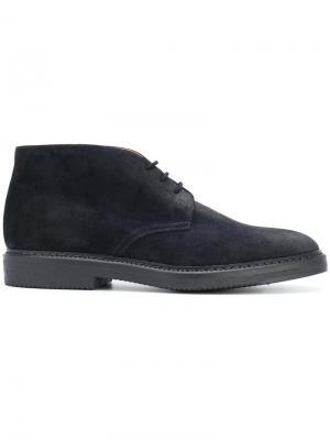 Ботинки на шнуровке Doucals Doucal's. Цвет: синий