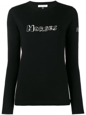 Трикотажный джемпер Horses Bella Freud. Цвет: чёрный
