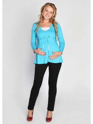 Блузка Мамуля красотуля. Цвет: бирюзовый