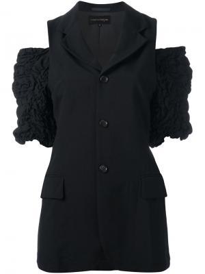 Жакет без рукавов с отделкой оборками Comme Des Garçons Vintage. Цвет: чёрный
