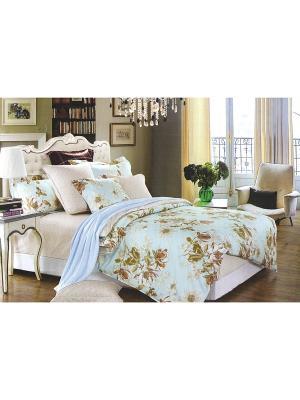 Комплект постельного белья, Семейный Sofi de Marko. Цвет: голубой
