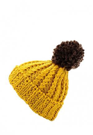 Шапка Vitacci. Цвет: желтый