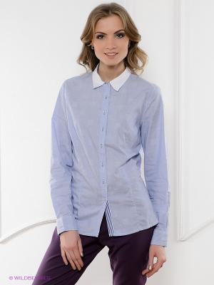 Рубашка ZENDRA. Цвет: голубой