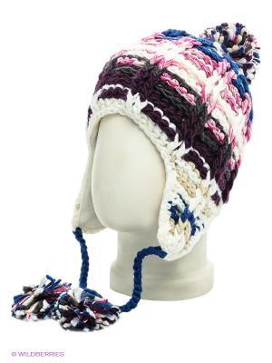Ушанка Maxval. Цвет: синий, темно-фиолетовый, розовый, белый