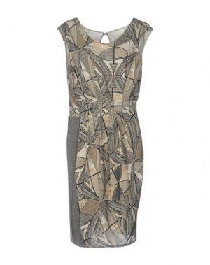 Платье до колена ALVIERO MARTINI 1A CLASSE. Цвет: песочный