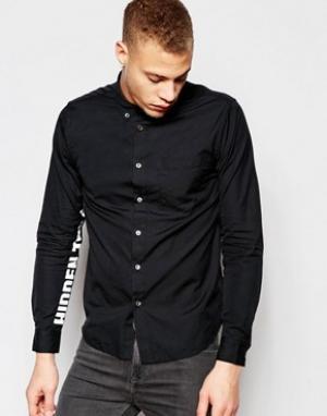 Izzue Рубашка классического кроя с принтом на рукавах. Цвет: черный