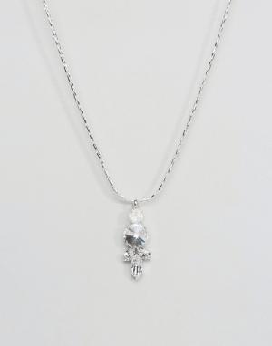 Krystal London Ожерелье с подвеской из кристаллов Swarovski от. Цвет: серебряный