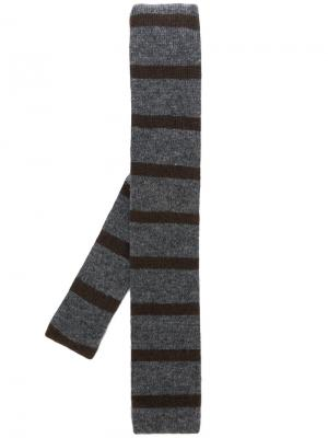 Полосатый галстук Delloglio Dell'oglio. Цвет: серый