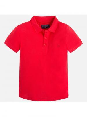 Футболка-поло Mayoral. Цвет: красный
