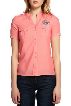 Рубашка Galvanni. Цвет: оранжевый