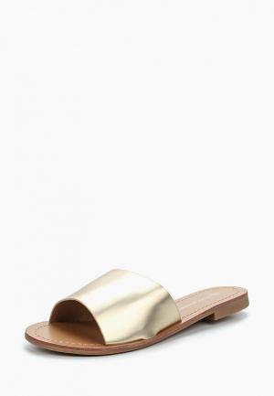 Сабо Ideal Shoes. Цвет: золотой
