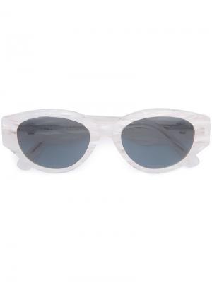 Солнцезащитные очки в круглой оправе Retrosuperfuture. Цвет: белый