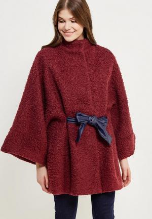 Полупальто Magwear. Цвет: бордовый