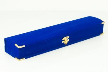 Подарочный футляр под браслеты и цепочки УП-217А Бусики-Колечки. Цвет: синий