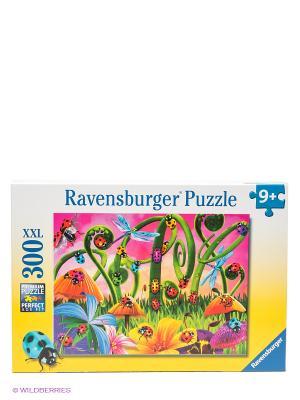 Пазл Божьи коровки XXL 300 деталей Ravensburger. Цвет: зеленый, желтый, розовый, синий