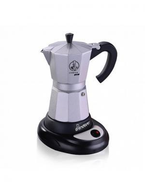 Электрическая гейзерная кофеварка ENDEVER Объем 0,3л. Цвет: серебристый