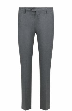 Шерстяные брюки прямого кроя Berwich. Цвет: светло-серый