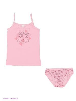 Комплект Cherubino. Цвет: розовый, светло-бежевый