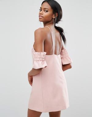 C/meo Collective Платье мини Double Take. Цвет: розовый