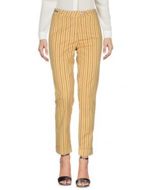 Повседневные брюки TELERIA ZED. Цвет: охра