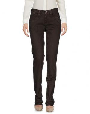 Повседневные брюки CARLO CHIONNA. Цвет: коричневый