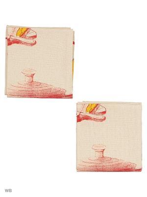 Набор кухонных полотенец - 2шт. (40*60) Dorothy's Нome. Цвет: бежевый, желтый