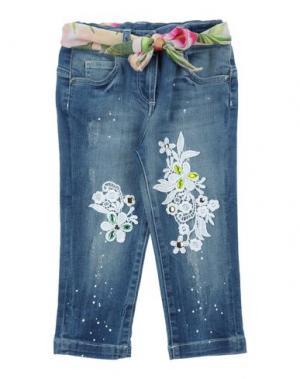 Джинсовые брюки MICROBE. Цвет: синий