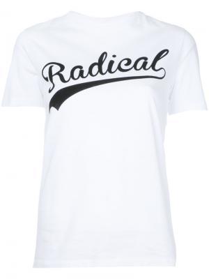 Radical slogan T-Shirt Être Cécile. Цвет: белый