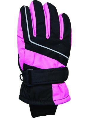 Перчатки YO!. Цвет: черный, бледно-розовый