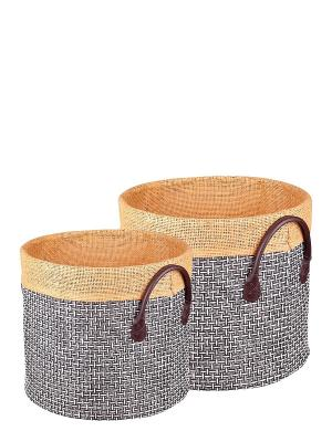Набор корзинок для хранения Miolla. Цвет: коричневый, персиковый