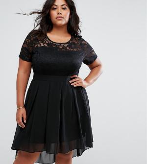 Praslin Приталенное платье с кружевным верхом. Цвет: черный