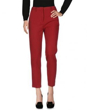 Повседневные брюки MYTHS. Цвет: красный