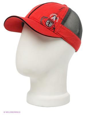Бейсболка Maxval. Цвет: красный, черный, серый