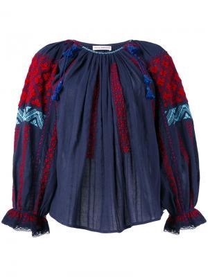 Топ с вышивкой Ulla Johnson. Цвет: синий