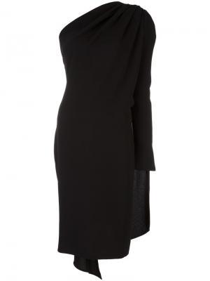 Платье на одно плечо с драпировкой Gareth Pugh. Цвет: чёрный