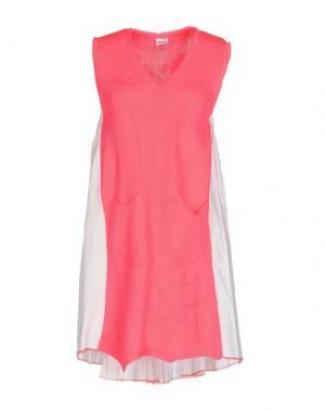 Короткое платье AKEP. Цвет: фуксия