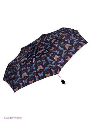 Зонты Isotoner. Цвет: голубой, фиолетовый, оранжевый, черный