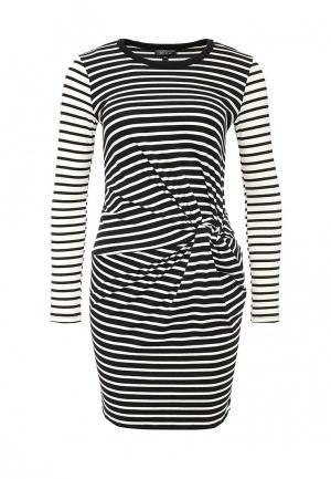 Платье Topshop. Цвет: черно-белый