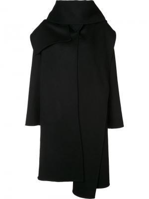Пальто свободного кроя Barbara Casasola. Цвет: чёрный