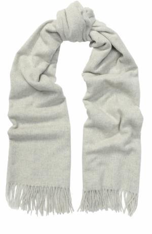 Вязаный шарф из овечьей шерсти Acne Studios. Цвет: светло-серый